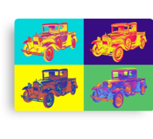 Colorful 1930 Model A Ford Pickup Truck Pop Art Canvas Print