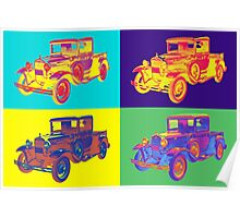 Colorful 1930 Model A Ford Pickup Truck Pop Art Poster
