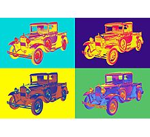 Colorful 1930 Model A Ford Pickup Truck Pop Art Photographic Print