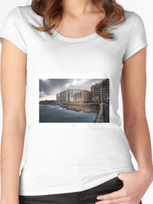 Colour Into the storm Women's Fitted Scoop T-Shirt