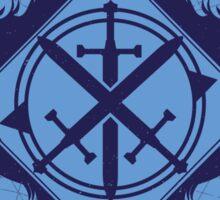 Strength of the Wolf [D.Blue / L.Blue] Sticker