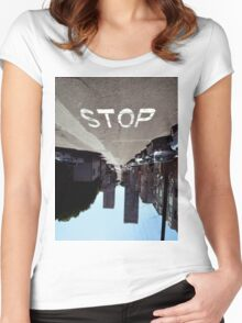 Stop Women's Fitted Scoop T-Shirt