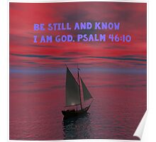 Be Still and Know I am God Poster