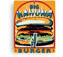 Big Kahuna Burger Pulp Canvas Print