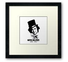 Gene Wilder Stencil Framed Print