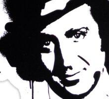 Gene Wilder Stencil Sticker