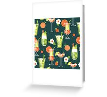 Tropical Drink Pattern Greeting Card
