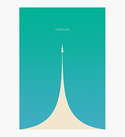 Vostok Rocket (Plain Green Blue) Photographic Print