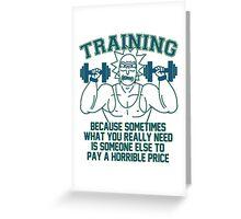 Training For Revenge - coloured Greeting Card