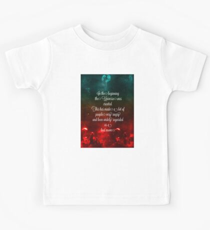 Hitchhiker's Guide Quote Kids Tee