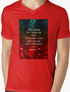 Hitchhiker's Guide Quote Mens V-Neck T-Shirt
