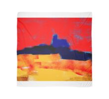Yellow and red landscape and the blue village Scarf