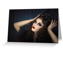 Portrait of young girl in gothic dress Greeting Card