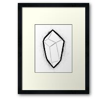 Power Crystal, Gem, Crystal, Magic, Tarot Framed Print