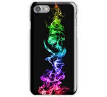 Colorful Abstract Smoke - A Rainbow in the Dark iPhone Case/Skin