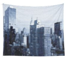 "Pixels Print ""BLUE MANHATTAN"" Wall Tapestry"