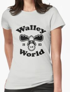 Marty Moose Walley souvenir Womens Fitted T-Shirt