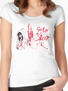 Jeff The Killer: Go To Sleep Women's Fitted Scoop T-Shirt