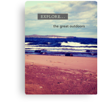 Explore The Great Outdoors Canvas Print