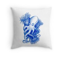 Pieuvre bleue (seule) Throw Pillow