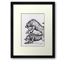 Beast guardians Framed Print