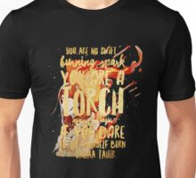 a torch against the night Unisex T-Shirt