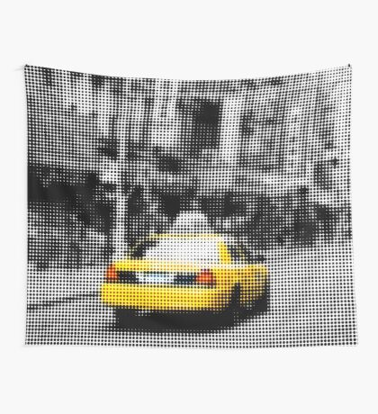 "Pixels Print ""YELLOW NYC TAXI"" Wall Tapestry"