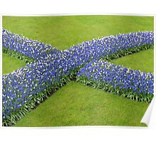The Big Blue X - Keukenhof Gardens Poster