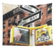 "Pixels Print ""ONE WAY"" Wall Tapestry"