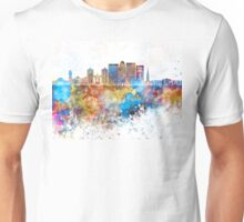 Louisville V2 skyline in watercolor background Unisex T-Shirt