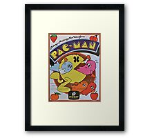 Pac Man Vintage Framed Print