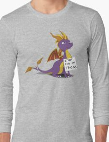 "Spyro Shaming: ""I SPIT FIRE ON FROGS"" Long Sleeve T-Shirt"