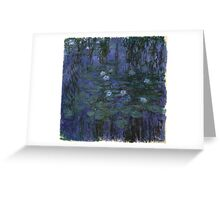Claude Monet - Blue Water Lilies (1916 - 1919)  Greeting Card