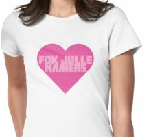 Fok Julle Naaiers Zef Heart Womens Fitted T-Shirt