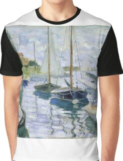 Claude Monet - Boats At Rest At Petit Gennevilliers Graphic T-Shirt