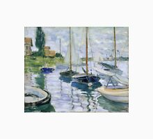 Claude Monet - Boats At Rest At Petit Gennevilliers Unisex T-Shirt