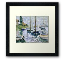 Claude Monet - Boats At Rest At Petit Gennevilliers Framed Print