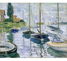 Claude Monet - Boats At Rest At Petit Gennevilliers Photographic Print