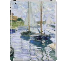 Claude Monet - Boats At Rest At Petit Gennevilliers iPad Case/Skin
