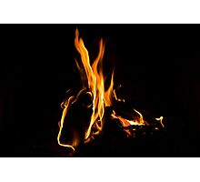 Hot - Cosy Fire in the Hearth Photographic Print