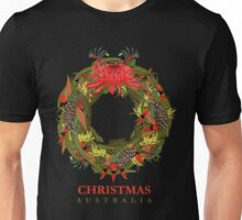 Christmas Australia Wildflower Wreath Unisex T-Shirt