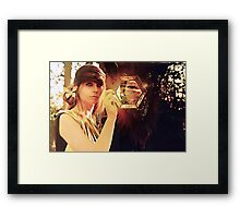 woman with beast  Framed Print