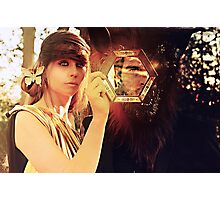 woman with beast  Photographic Print
