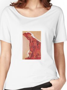 Egon Schiele - Composition With Three Male Figures Self Portrait 1911 Women's Relaxed Fit T-Shirt