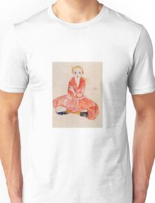 Egon Schiele - Seated Girl Facing Front 1911 Unisex T-Shirt