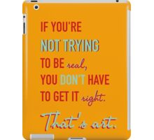 Quote Andy Warhol 2 iPad Case/Skin