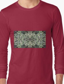 Clematis Fractal 1b - Horizontal - from Flower Photo Long Sleeve T-Shirt