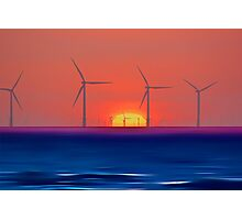 Windmills to the Sun Photographic Print