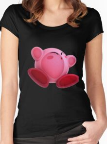 Screen Smush Kirby - Kirby Women's Fitted Scoop T-Shirt
