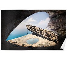 wrecked ship in the cave Poster